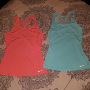 2 nike active tops